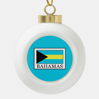 Bahamas Ceramic Ball Christmas Ornament
