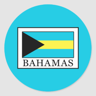 Bahamas Classic Round Sticker