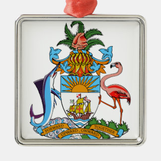 Bahamas Coat of Arms Metal Ornament