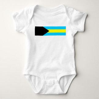 Bahamas country flag symbol long baby bodysuit