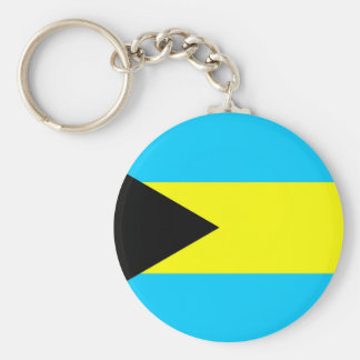 Bahamas country flag symbol long keychain