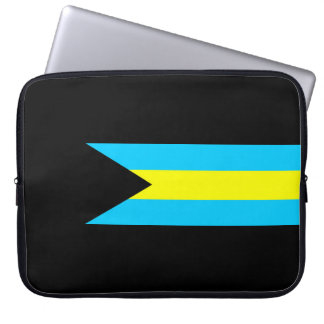 Bahamas country flag symbol long laptop sleeve