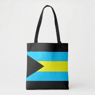 Bahamas country flag symbol long tote bag