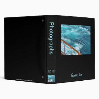 Bahamas Cruise - Turquoise Wake 3 Ring Binder
