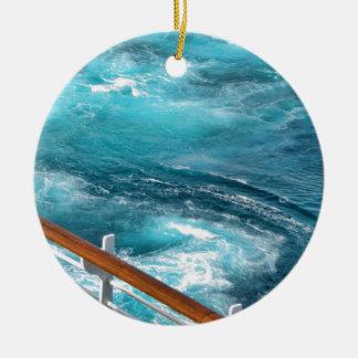 Bahamas Cruise - Turquoise Wake Ceramic Ornament