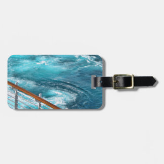 Bahamas Cruise - Turquoise Wake Luggage Tag