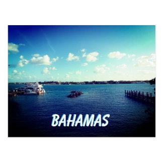 Bahamas Dock and Boats Postcard