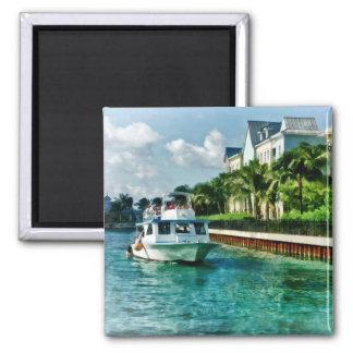 Bahamas - Ferry to Paradise island Square Magnet