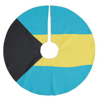 Bahamas Flag Brushed Polyester Tree Skirt