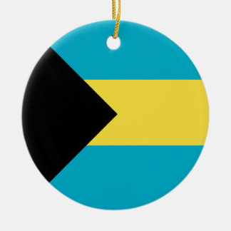 Bahamas Flag Ceramic Ornament