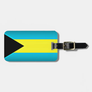 Bahamas Flag Dark Edge Luggage Tag