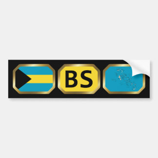 Bahamas Flag Map Code Bumper Sticker