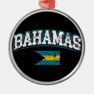 Bahamas Flag Metal Ornament
