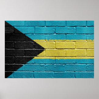 Bahamas flag poster