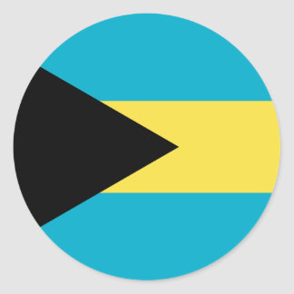 Bahamas Flag Round Stickers