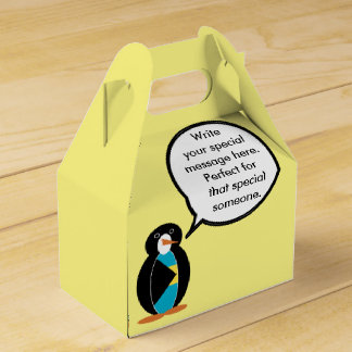 Bahamas Flag Talking Penguin Party Favor Boxes