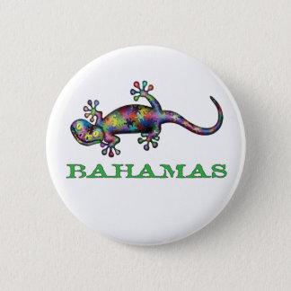 Bahamas gecko 2 inch round button