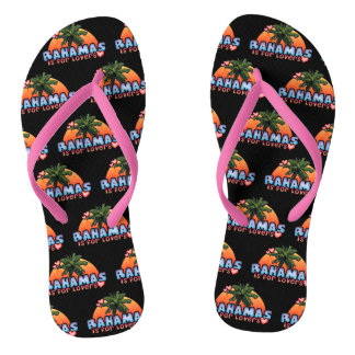 Bahamas is for Lovers Flip Flops