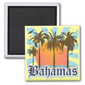 Bahamas Islands Beaches Square Magnet