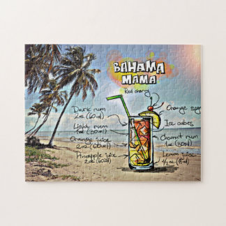 Bahamas Mama Cocktail Drink Recipe Puzzle