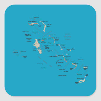 Bahamas Map Sticker