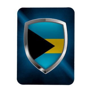 Bahamas Mettalic Emblem Rectangular Photo Magnet