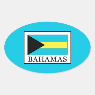 Bahamas Oval Sticker