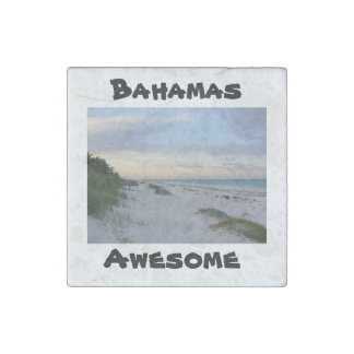 Bahamas Photo/ Quote Stone Magnets