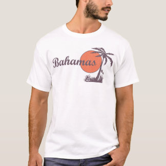 Bahamas Retro 'Worn' Palm Tourist Tee