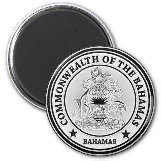Bahamas Round Emblem 2 Inch Round Magnet