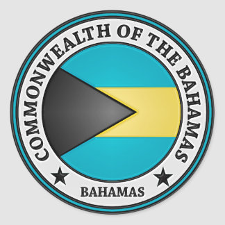 Bahamas Round Emblem Classic Round Sticker