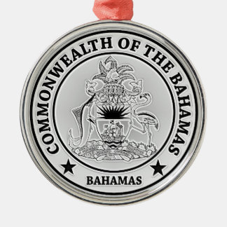 Bahamas Round Emblem Metal Ornament