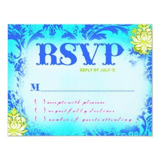 BAHAMAS RSVP 2 Linen Paper Card