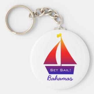 Bahamas Sailboat Keychain