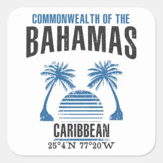 Bahamas Square Sticker