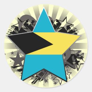 Bahamas Star Classic Round Sticker
