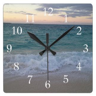 Bahamas Sunset Clock