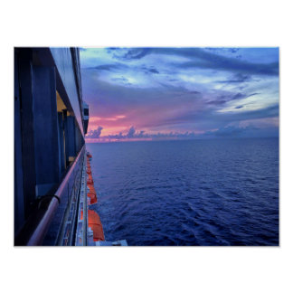 Bahamas Sunset Poster