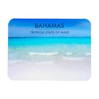Bahamas Tropical Beach with a Turquoise Sea Rectangular Photo Magnet
