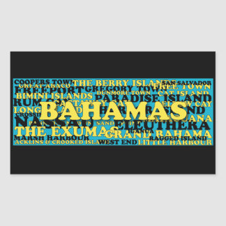 Bahamas word crowd source sticker