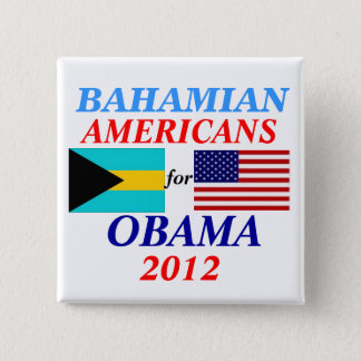 Bahamian americans for Obama 2 Inch Square Button