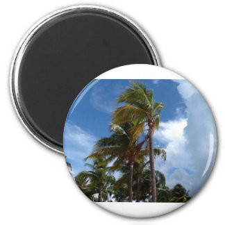 Bahamian Breezes 2 Inch Round Magnet