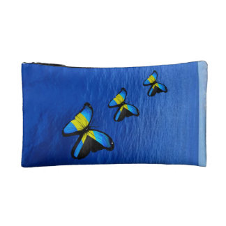 Bahamian Butterfly Cosmetic Bag