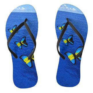Bahamian Butterfly Flip Flops