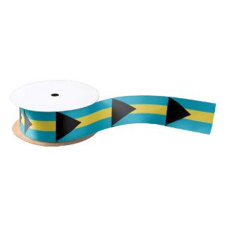 Bahamian flag ribbon satin ribbon