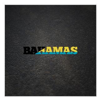Bahamian name and flag perfect poster