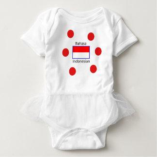 Bahasa Language And Indonesian Flag Design Baby Bodysuit