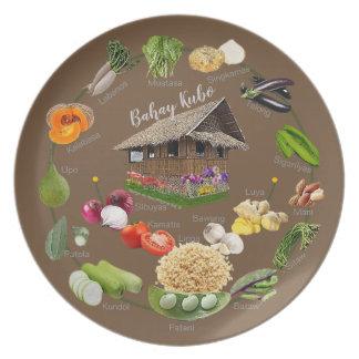 "Bahay Kubo ""learn Filipino vegetables"" Plate"