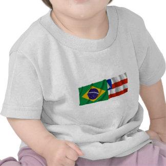 Bahia & Brazil Waving Flags T Shirt