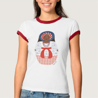 Bahia Brazilian Matryoshka Ladies Ringer T-Shirt